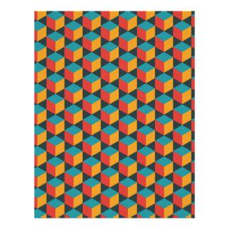 Isometric grid cube pattern personalized letterhead
