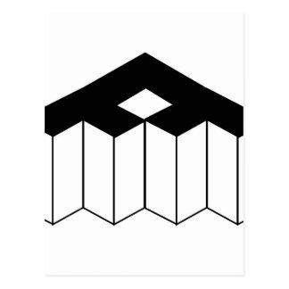 Isometric object postcard
