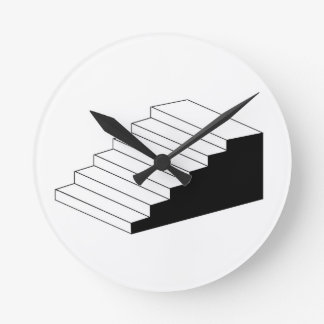 Isometric object stair- architectural 3d object clocks
