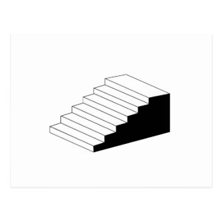 Isometric object stair- architectural 3d object postcard