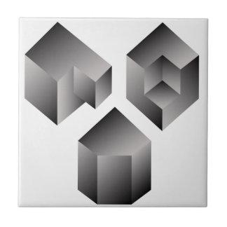 Isometric objects ceramic tiles