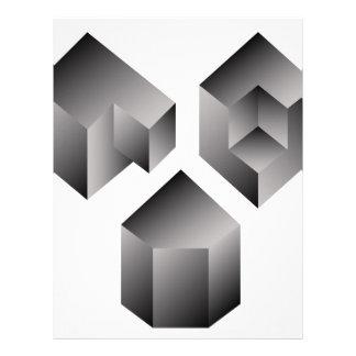 Isometric objects letterhead