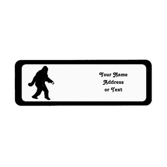 iSquatch (Add Background Colour) Return Address Label