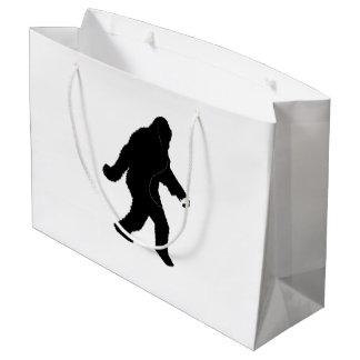 iSquatch ( Customize Background Colour) Large Gift Bag