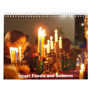 Israel and Jewish Feast and Seasons Wall Calendar