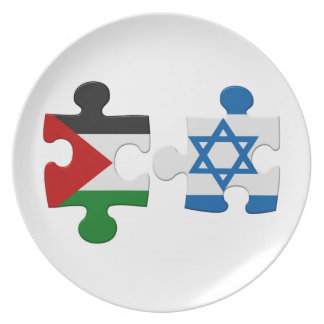 Israel and Palestine Conflict Flag Puzzle Party Plates