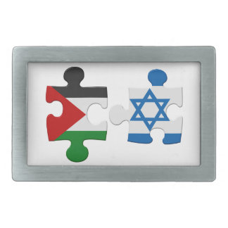 Israel and Palestine Conflict Flag Puzzle Rectangular Belt Buckles
