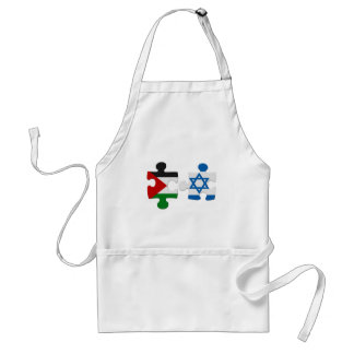 Israel and Palestine Conflict Flag Puzzle Standard Apron