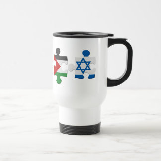 Israel and Palestine Conflict Flag Puzzle Travel Mug
