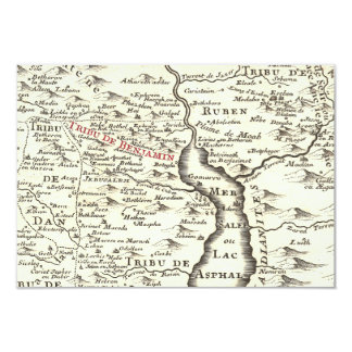 Israel Antique Map Benjamin Bar Mitzvah Thank You Card