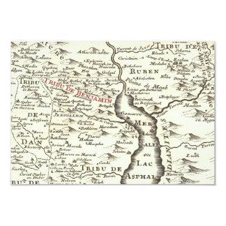 Israel Antique Map Benjamin Bar Mitzvah Thank You Card