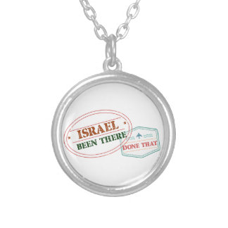 Israel Been There Done That Silver Plated Necklace