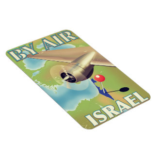 Israel By air vintage travel poster Magnet