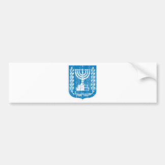 Israel Coat Of Arms Bumper Sticker