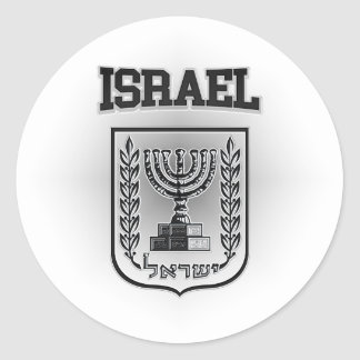 Israel Coat of Arms Classic Round Sticker