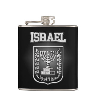 Israel Coat of Arms Hip Flask