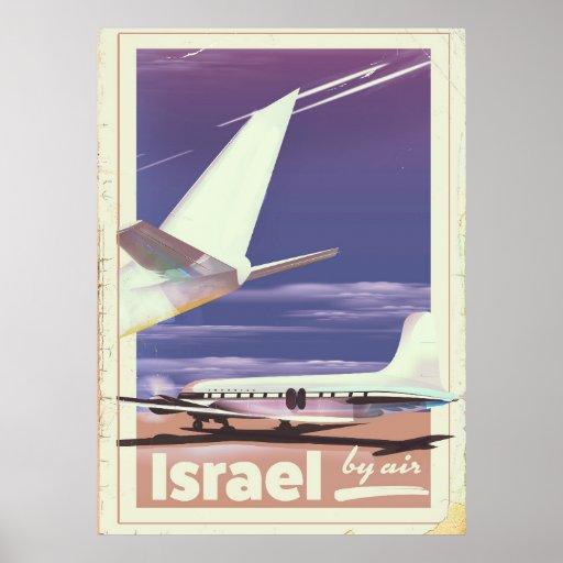 Israel Commercial airliner travel poster