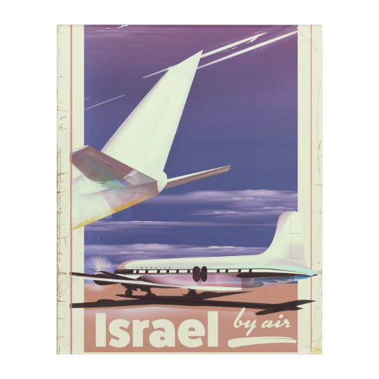 Israel Commercial airliner travel poster Acrylic Wall Art