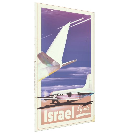 Israel Commercial airliner travel poster Canvas Print