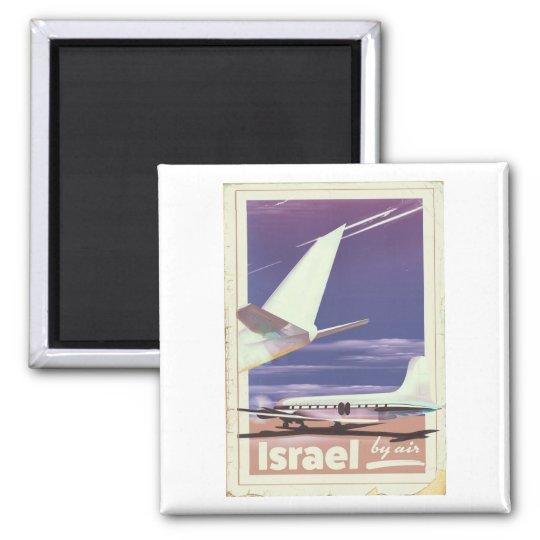 Israel Commercial airliner travel poster Magnet