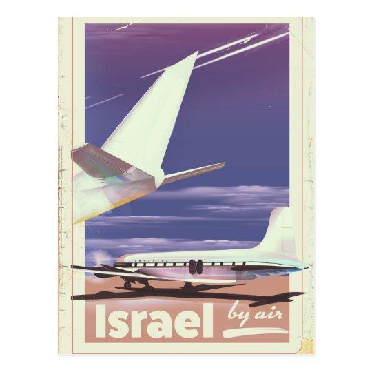 Israel Commercial airliner travel poster Postcard
