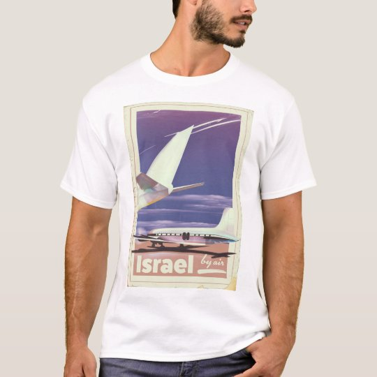 Israel Commercial airliner travel poster T-Shirt