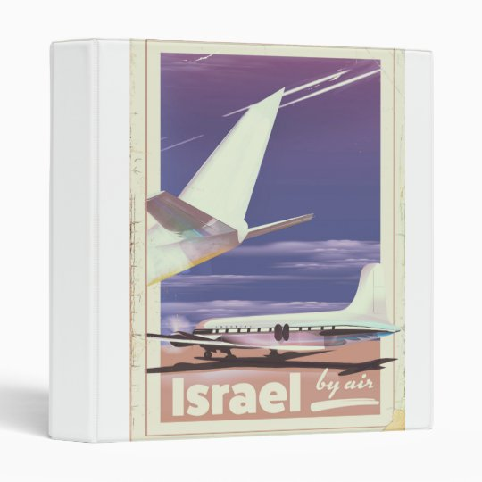 Israel Commercial airliner travel poster Vinyl Binder