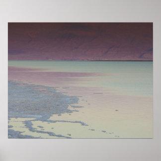 Israel, Dead Sea, Ein Bokek, Dead Sea, dusk Poster
