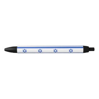 Israel Flag Black Ink Pen