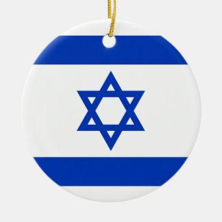 Israel Flag Ceramic Ornament