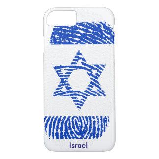 Israel Flag Fingerprint iPhone 7, Barely There iPhone 7 Case