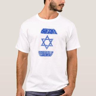 Israel Flag Fingerprint Men's Basic T-Shirt