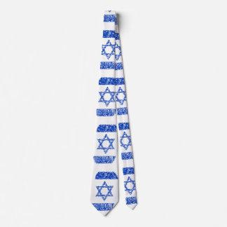 Israel Flag Fingerprint Tie