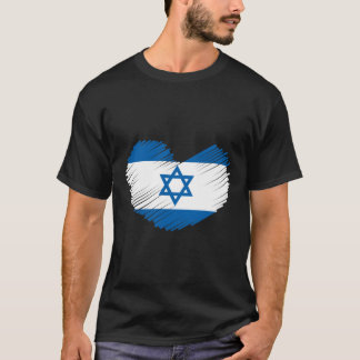 Israel Flag Heart T-Shirt