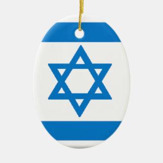 Israel Flag Christmas Tree Ornaments