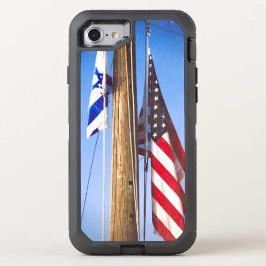 Israel Flag OtterBox Defender iPhone 7 Case