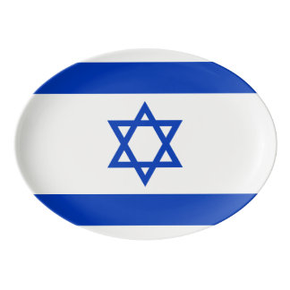 Israel Flag Porcelain Serving Platter