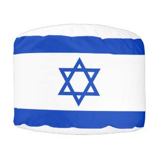Israel Flag Pouf