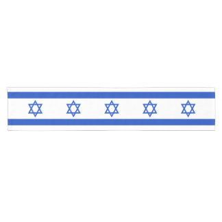 Israel Flag Short Table Runner