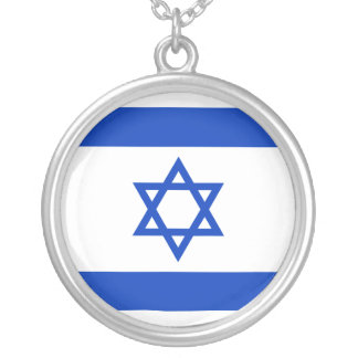 Israel Flag Silver Plated Necklace