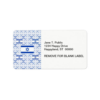 Israel Flag - Star of David -  in Layers Label