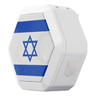 Israel Flag White Bluetooth Speaker