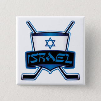 Israel Ice Hockey Flag Badge Hockey Pin