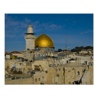 Israel, Jerusalem, Dome of the Rock Poster