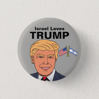 Israel Loves Trump Button