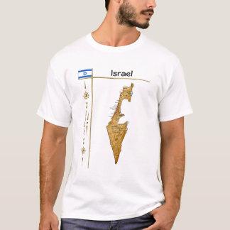 Israel Map + Flag + Title T-Shirt