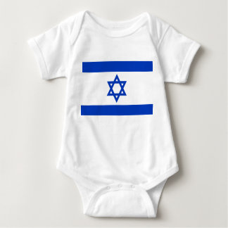 Israel National World Flag Baby Bodysuit