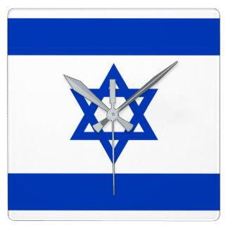 Israel National World Flag Square Wall Clock