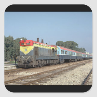 Israel, Ry EMD G12 with train_Trains of the World Square Sticker