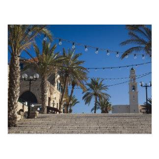 Israel, Tel Aviv, Jaffa, stairs, Old Jaffa Postcard